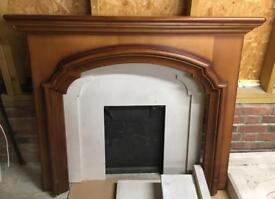 Fireplace surround and inset