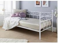 Day bed single bed mattress & cushions included in price
