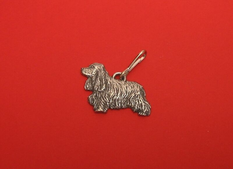 Cocker Spaniel Pewter Zipper Pull Mum Dad Vet Christmas Useful Gift Free Pouch