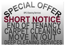 SHORT NOTICE PROFESSIONAL END OF TENANCY CLEANING FREE CARPET WASH DEEP PROPERTY DOMESTIC CLEANERS