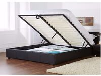 LIMITED TIME OFFER =KING LEATHER STORAGE BED WITH ORTHOPAEDIC MATTRESS, DOUBLE/SINGLE AVAILABLE