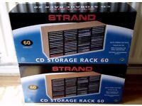 2 x Strand CD Storage Rack. Holds 60 CDs each: