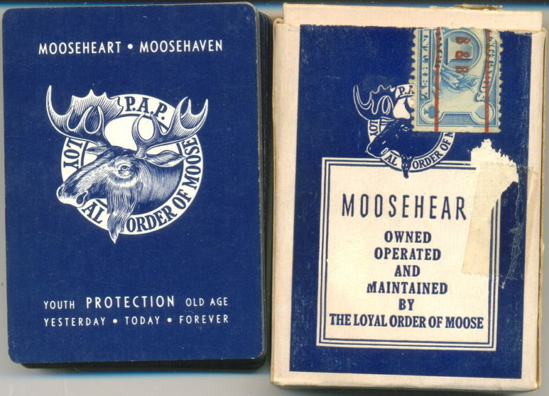 Mooseheart - Moosehaven Playing Cards  52 Cards & Box