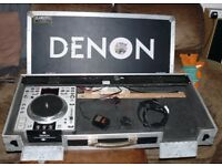 DENON flight case for decks & mixer INTEGRAL fans, power board, xlr mic, stereo out padded