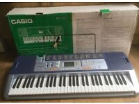 Casio Electronic Keyboard LK-110 With Key Lighting System.