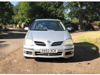 Diesel nissan almera tino for sale, half leather, new MOT, drives perfect.