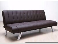 New Brown Padded sofa bed 3 seater (free local delivery)