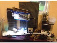 Large joblot of aquarium fish tanks, filters, heater, decoration and more... £25