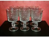 6 Retro Drinking Glasses