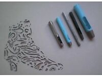 QUALITY SELECTION OF HOLE PUNCHES SKIVER KNIVES