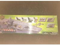 Aircraft Carrier includes 4 piece die-cast fighters - brand new
