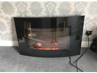 Hyundai Electric Fire, Glass Front, Remote Control