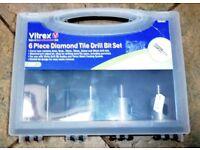 Diamond Tile Drill 6-Piece Bit Set by Vitrex