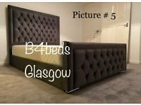 Double King size Crush Velvet / plush velvet Beds please check all pictures