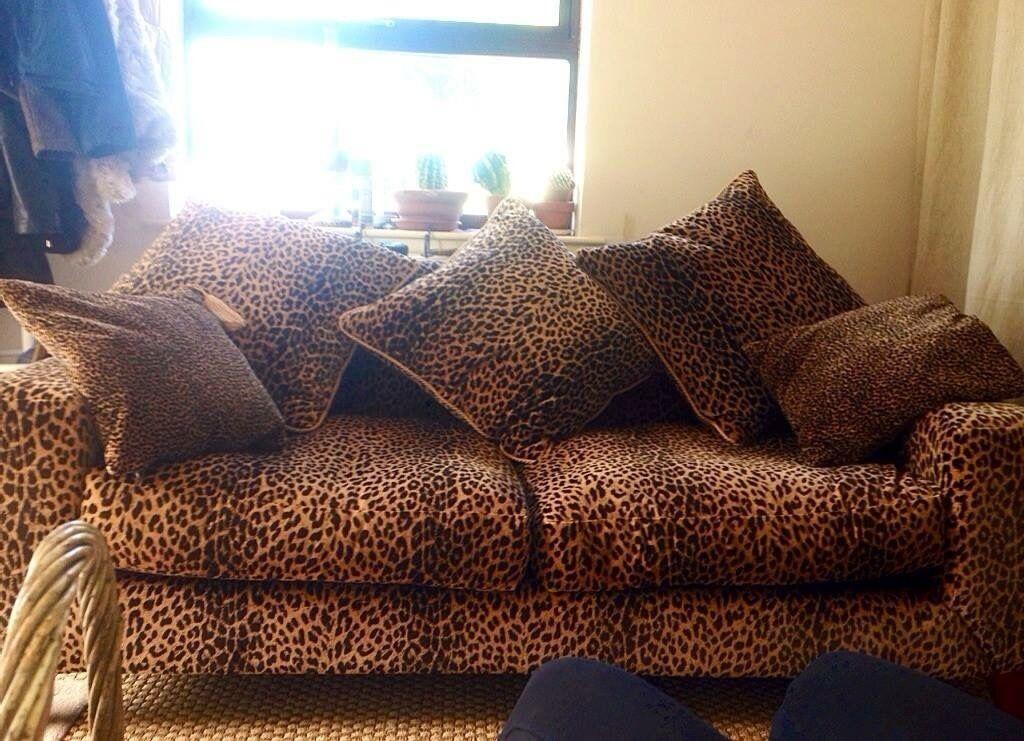 Leopard Print Dfs Discontinued Sofa