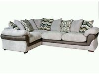 Harvey's corner sofa and cuddle chair with foot stool
