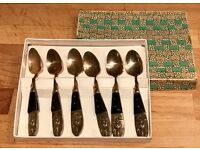 6 Buddha Thailand Tea Spoons - Flatware Utensils