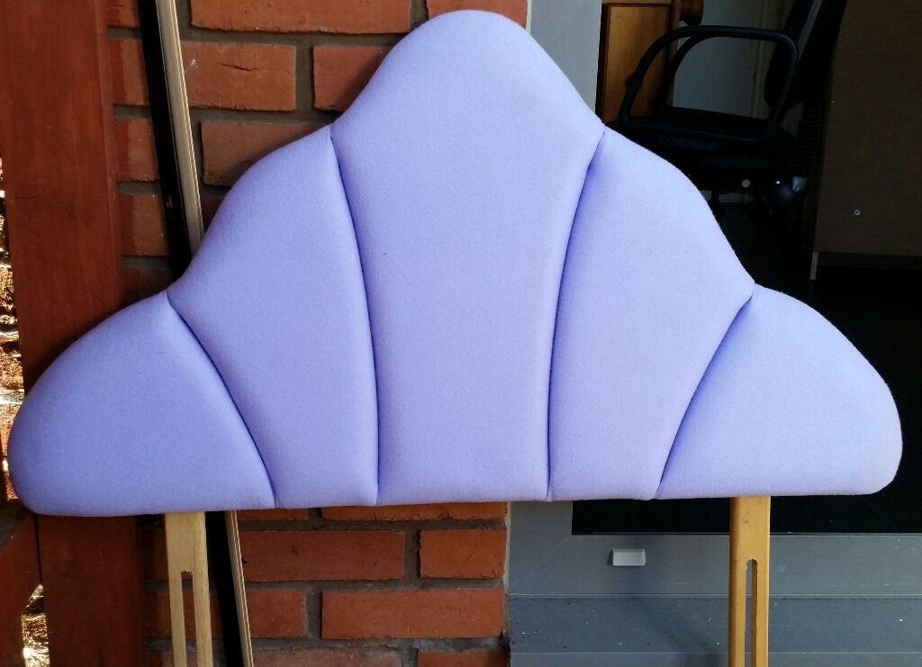 headboard for single beds. lilac colour. In very good condition.