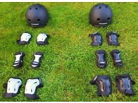 'Stateside' Protection Helmet plus Wrist Guards, Knee Pads and Elbow Pads