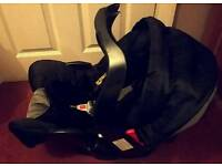 Baby car seat holdall and car attachment