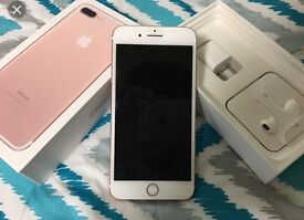 Apple I phone 7plus rose gold