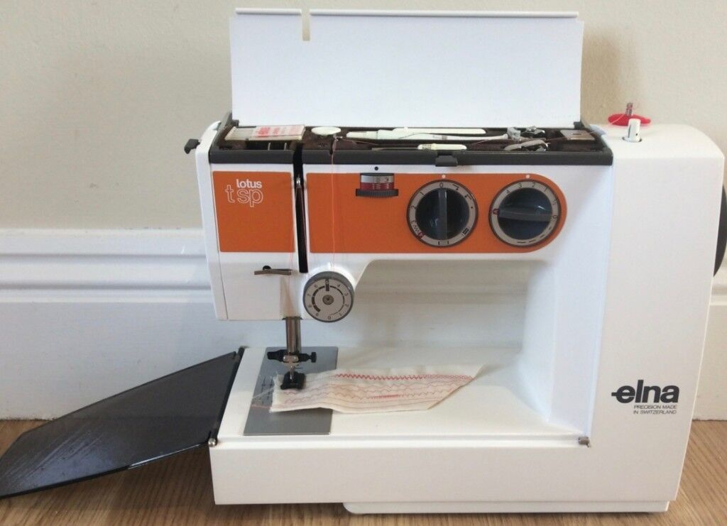 Elna Lotus TSP Swiss Made Sewing Machine PreOwned Serviced With Awesome Elna Sewing Machine Needles Uk