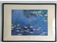 Monet poster/photo painting with black frame