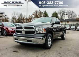 2018 Ram 1500 SXT QUAD CAB 4X4, TINTED GLASS, SAT RADIO, A/C