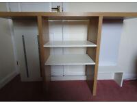 Desk topper shelf unit