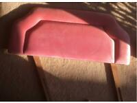 Single Dusky Pink Velour Headboard