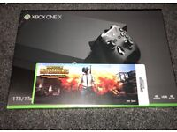 Xbox One X 1TB With Battlegrounds Controller Only 2 Days Old