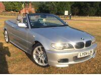 2004 BMW 330CI AUTO SPORT SOFT TOP AND HARD TOP CONVERTIBLE MEGA LOW MILES 57K 12 MONTYS MOT FSH