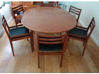 Vintage Retro Jentique Teak Dining Table and Chairs