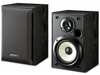 Pair of Stereo Speakers SONY SS-B1000 HI-FI in Black with Grills, VGC