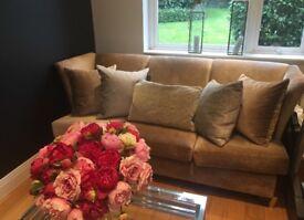 Andrew Martin Ava sofa in camel fabric