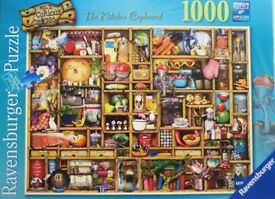 1000 piece jigsaw by Ravensburger - Titled: The Kitchen Cupboard