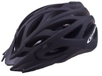 Ammaco MTB Road Bike Helmet Matt Black 58-62cm - QUICK SALE