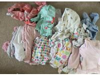 Baby Girl Clothes Bundle - One month up to 6 months