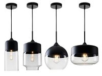 Modern Loft lampshade ceiling Glass and Metal Joint Pendant Lighting Lamp 5326