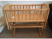 John Lewis Anna Glider Crib/ Cradle (with locable rocking Base)