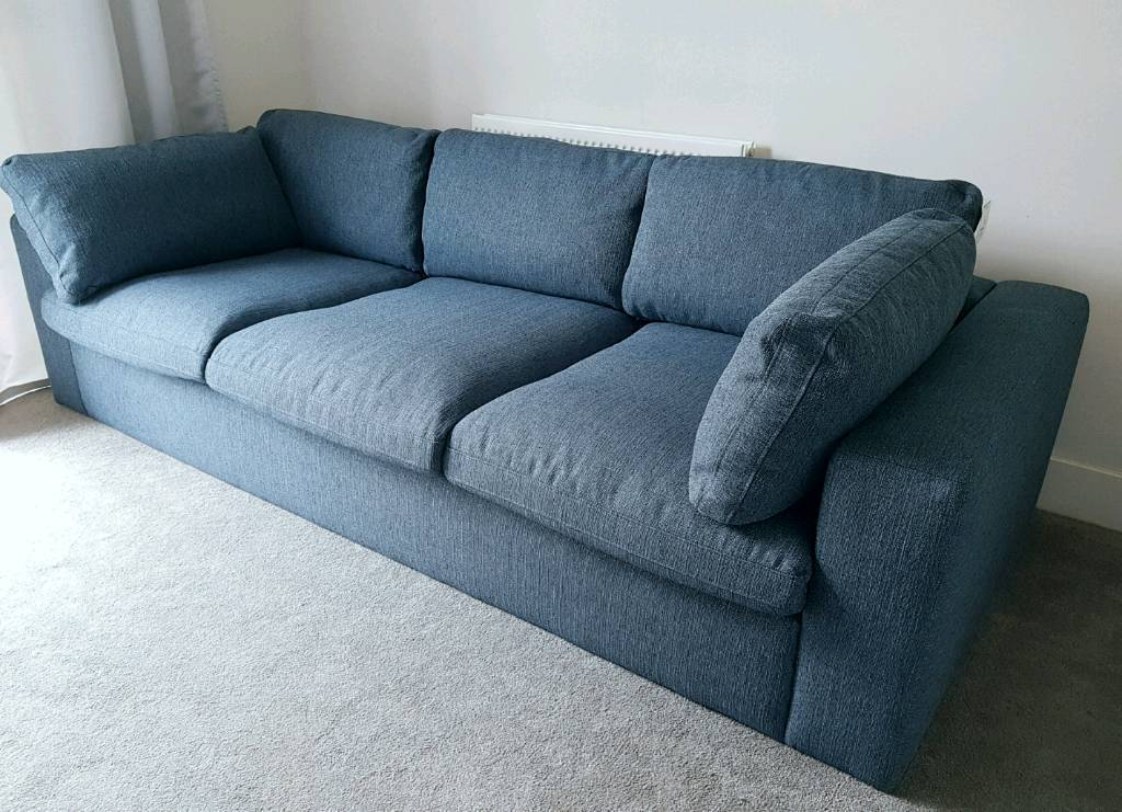 Sofa NEW Large Three Seater From Swoon Editions Seattle RRP £1400 Like New  Couch Home
