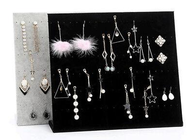 L-Shape Velvet Jewelry Frame Tray Earrings Board Display Counter Rack Organizer ()