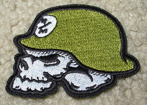 Skull With Helmet Patch