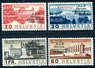 SCHWEIZ BIT 1938 49-52 * SPECIMEN SATZ ungebraucht RRR 600€(S3266