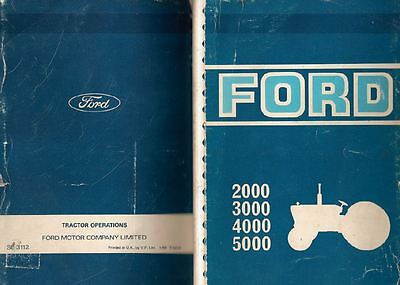 Ford Tractor Operations Service Manual Book:2000,3000,4000,  Engine Gearbox j