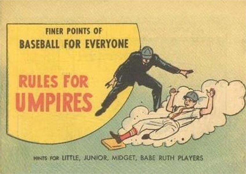 FINER POINTS OF BASEBALL RULES FOR UMPIRES RARE MINI PROMO GIVEAWAY COMIC