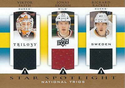 2013 14 Upper Deck Trilogy Three Star International Jerseys  Swe Rook