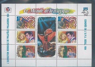 Famous Musicians Of 1994 Souvenir Sheet  1224 Mnh Madagascar   E29