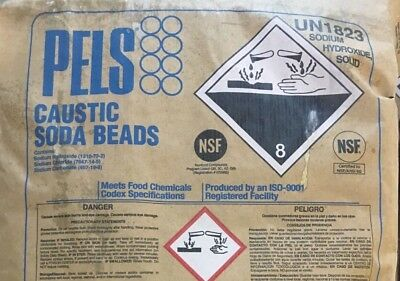 Sodium Hydroxide Naoh Fccusp Prilled Minimum 99 Pure 10lb