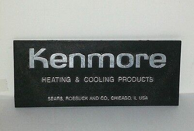Rare Kenmore Appliance Sears Roebuck Chicago 3D Emblem Badge Sign